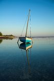 Blue Dhow Sailing Boat Royalty Free Stock Photo