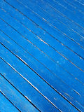 Blue Diagonal Wooden Planks Background Stock Photography