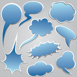 Blue dialog clouds. Stock Images