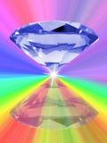 Blue diamond vector illustration