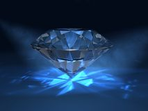 Blue diamond Royalty Free Stock Image