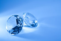Blue diamond Royalty Free Stock Photography