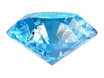 Blue diamond. Isolated on white Royalty Free Stock Photos