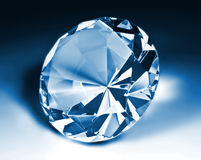 Blue diamond. Fine image of blue diamond classic cut Royalty Free Stock Images