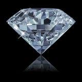 Blue diamond  on black background Royalty Free Stock Image
