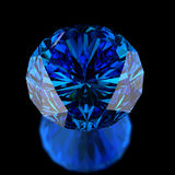 Blue diamond on black Royalty Free Stock Photo