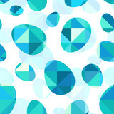 Blue diamond eggs vector seamless pattern Royalty Free Stock Photos