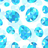 Blue diamond eggs vector seamless pattern Royalty Free Stock Images