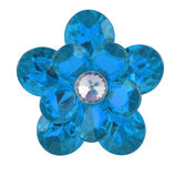 Blue diamond flower Stock Image
