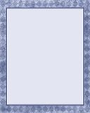 Blue diamond frame stock illustration