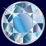 Blue diamond illustration Royalty Free Stock Images