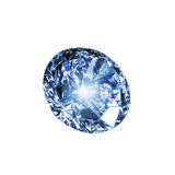 Blue diamond. Isolated on a white background Stock Photo