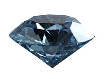 Blue diamond isolated on white Royalty Free Stock Images