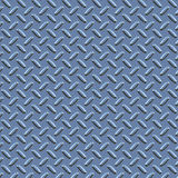 Blue diamond plate metal Royalty Free Stock Photos