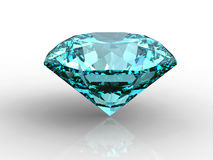 Blue Diamond with reflection Stock Photo
