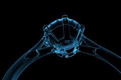 Blue diamond ring Stock Images