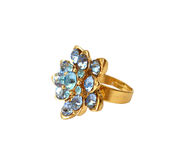 Blue diamond ring Royalty Free Stock Images