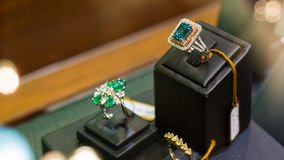Blue diamond ring Royalty Free Stock Image