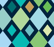 Blue diamond seamless pattern. Vector green and blue diamond patter background design. Perfect for fabric, wallpapers, scrapbooking and crafts royalty free illustration