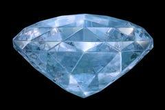 Blue diamond with soft edges Royalty Free Stock Image