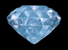 Blue diamond with soft edges Stock Image