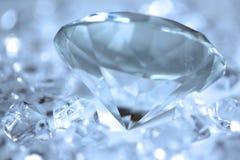Blue diamonds stock photography