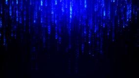 Blue diamonds abstract rain background. Animated background featuring blue diamonds abstract rain falling simulating the matrix effect stock illustration