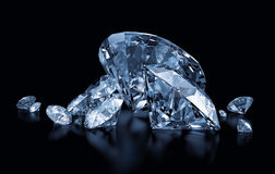 Blue diamonds Stock Images