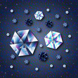 Blue diamonds Stock Image