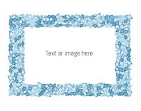 Blue diamonds frame with space for text/ image. vector illustration