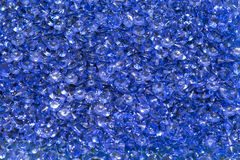 Blue diamonds. Plastic diamonds blue cluster costume jewellery Royalty Free Stock Photography