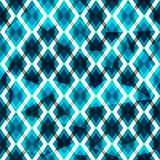Blue diamonds seamless pattern Stock Image