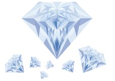 Blue diamonds, vector Royalty Free Stock Photo