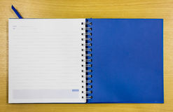 Blue diary book Stock Photography