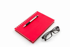 Blue diary book with the word Royalty Free Stock Image