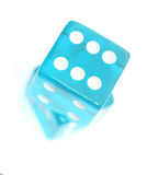 Blue Dice. On white background Stock Photography