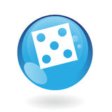 Blue dice Royalty Free Stock Image