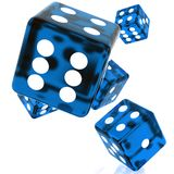 Blue Dice Stock Images