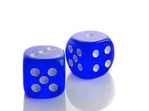 Blue dice Stock Photos