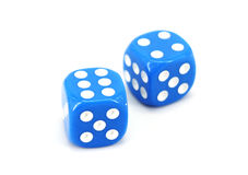 Blue Dice Royalty Free Stock Photography