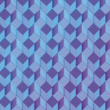Blue dice on a fabric pattern Stock Photo