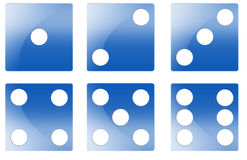 Blue Dice Illustration Royalty Free Stock Photo
