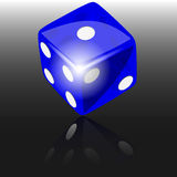 Blue dice Stock Photography
