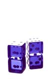 Blue dice shot with high light Royalty Free Stock Photography