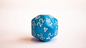 Blue dice royalty free stock photos