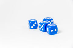 Blue dice. Royalty Free Stock Photography