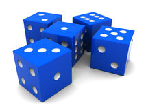 Blue dices Stock Image