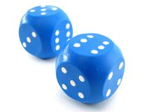 Free Blue Dices Stock Image - 12747301
