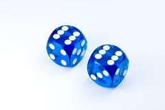 Blue dices Royalty Free Stock Image
