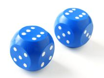 Blue dices Royalty Free Stock Photos